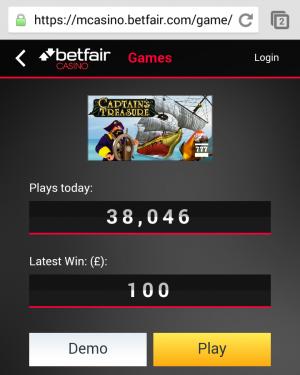 Betfair mobile casino free play