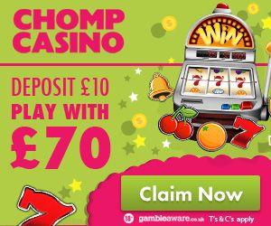 chomp mobile casino welcome bonus offer